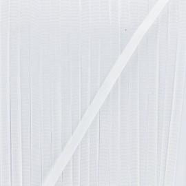 Ruban aspect soie 4 mm - blanc x 1m