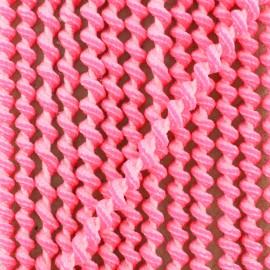 Cordon élastique spirale 5 mm - rose fluo x 1m