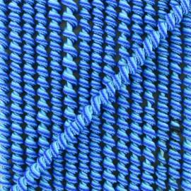 Cordon élastique spirale 5 mm - bleu x 1m