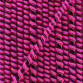 5 mm spiral elastic cord - fuchsia/black x 1m
