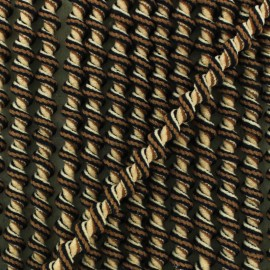 Cordon élastique spirale 5 mm - chocolat x 1m