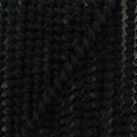 5 mm spiral elastic cord - black x 1m