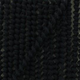 Cordon élastique spirale 5 mm - noir x 1m