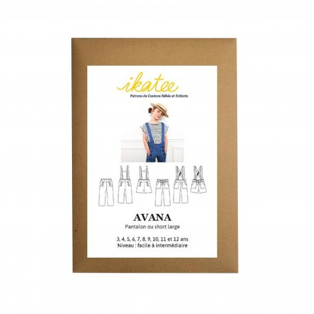 Sewing pattern Ikatee Trousers or Short Avana - 3 to 12 years old