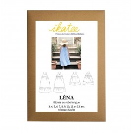 Sewing pattern Ikatee Blouse or Dress Léna - 3 to 12 years old