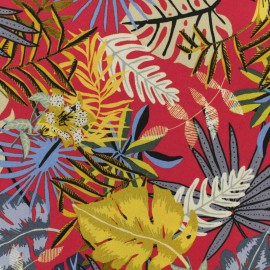 Tissu viscose Hawaiian Summer - rouge fraise x 10 cm