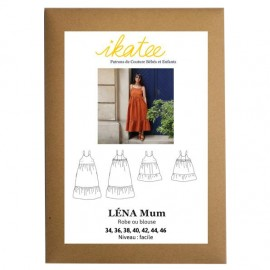 Sewing pattern Ikatee Blouse or Dress Léna Mum - 34 to 46