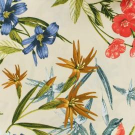 Tissu viscose Bouillon de fleurs - crème x 10 cm