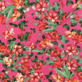 Tissu viscose Romantica - fuchsia x 10 cm