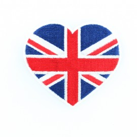 Coeur d'Angleterre iron-on - red/blue