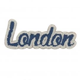 Streetart collection London iron-on - grey/blue