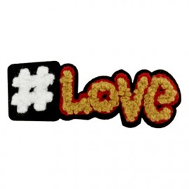 Streetart collection Hashtag love iron-on - camel