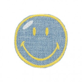 Thermocollant Smiley Express Yourself - bleu jean