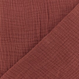 Double gauze fabric MPM - red desert x 10cm