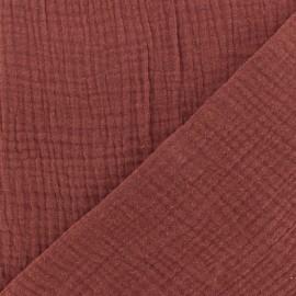 Tissu double gaze de coton MPM - terre brûlée x 10cm