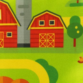 Tissu Feutrine Circuit campagne - vert x 40cm