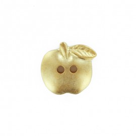 Bouton polyester Pomme Golden - doré