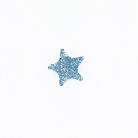 11 mm Mille et une étoiles polyester button - sky blue