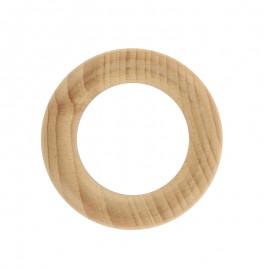 Anneau de dentition bois naturel - cercle