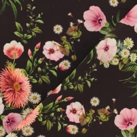 Tissu satin polyester Françoise - noir x 10cm