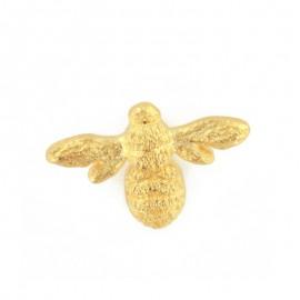 Bouton polyester Reine des abeilles - doré