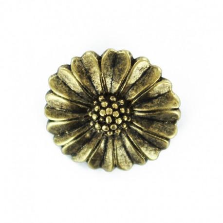 Bouton métal Pâquerette - bronze