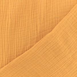 Tissu Oeko-tex double gaze de coton MPM - jaune safran x 10cm
