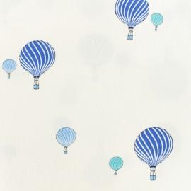 Oeko-tex Waffle stitch blue cotton fabric - Sweet balloon x 10cm