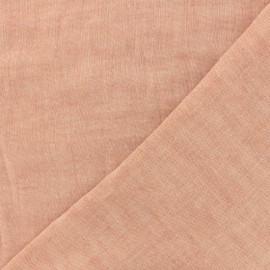 Tissu Kiyohara double gaze de coton reversible Chambray - pêche x 10cm