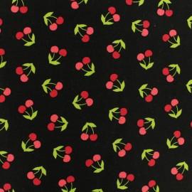 Poplin Fabric - black Robert Kaufman Cerise en folie x 10cm