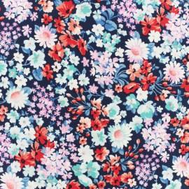 Tissu popeline Robert Kaufman Forêt enchantée - bleu x 10cm