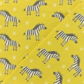 Tissu jersey Cute Zebra - jaune tilleul x 10cm