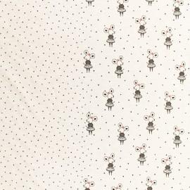 Tissu Poppy Oeko-Tex sweat léger  Sweetest thing - écru chiné x 55cm