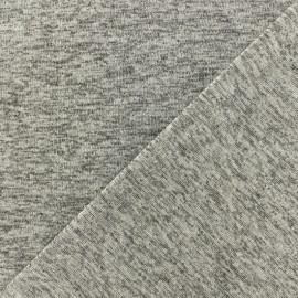 Tissu Maille lurex Party - argent x 10cm