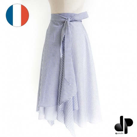 Asymmetric wrap skirt sewing pattern - dp's by Dp Studio Le 4001