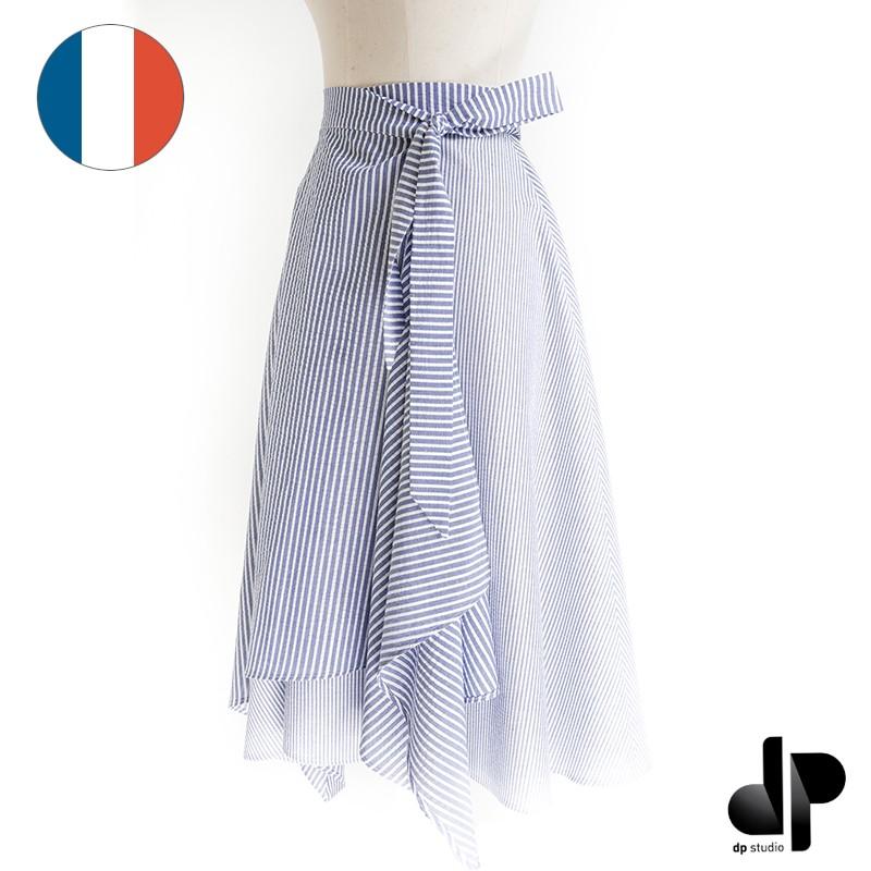 Asymmetric wrap skirt sewing pattern - dp\'s by Dp Studio Le 4001