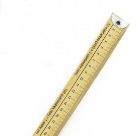 Classic wooden meter stick ruler