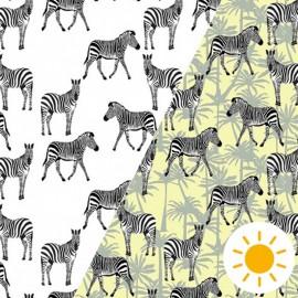 Oeko-Tex Color Changing fabric - zèbre libre x 10cm