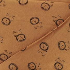 Tissu coton lavé Little lion - caramel x 10cm