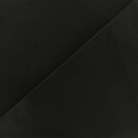Tissu toile coton oxford uni - noir x 10cm