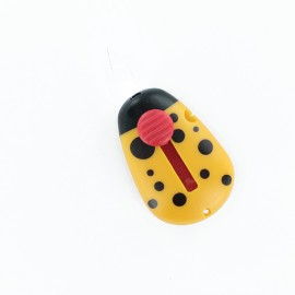 Automatic ladybug needle threader - yellow