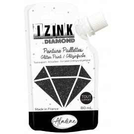 Izink Diamond all-purpose glitter paint 80ml - black