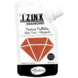 Peinture paillettes tout support Izink Diamond 80ml - orange