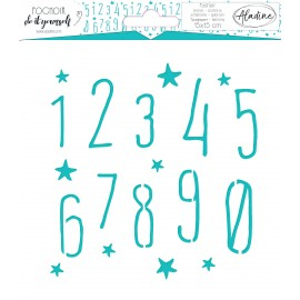 Square DIY stencil - number