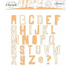 Square DIY stencil - alphabet