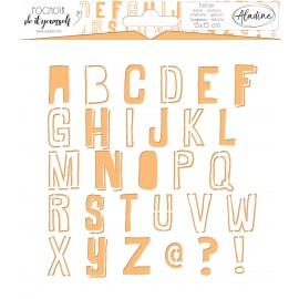 Square DIY stencil - alphabet