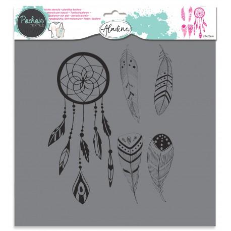 Textile stencil - dreamcatcher