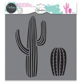 Pochoir textile Cactus