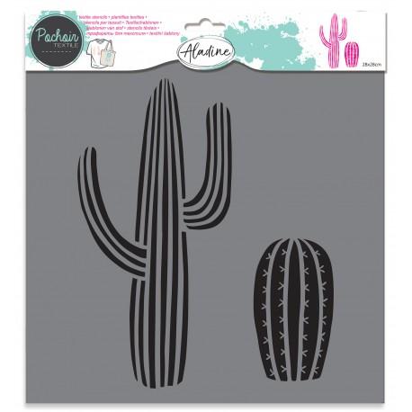 Textile stencil - cactus