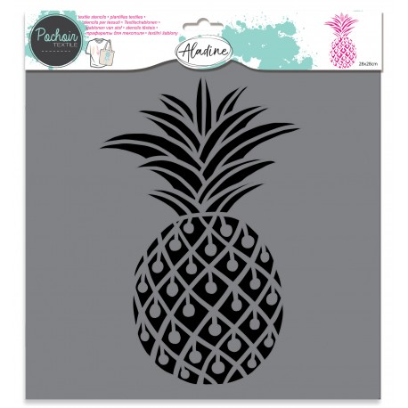 Pochoir textile Ananas